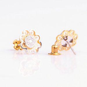 Cercei aur floricele
